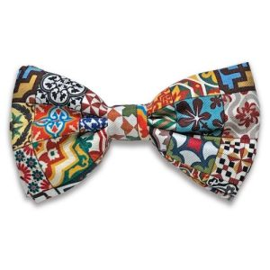 Tiles Silk Bow Tie