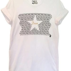 "White Graphic ""Dream"" Tee - tees arabic dream tee white 1 1024x1024@2x 474x500"