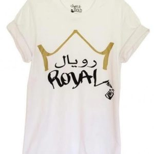 "White Graphic ""Royal"" Unisex Tee - tees arabic royal tee white 1 1024x1024@2x 500x500"