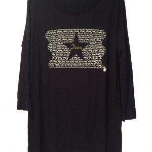 "Black Women's ""Dream"" Graphic Long Tunic - tunics arabic dream long sleeve tunic black 1 1024x1024@2x 500x500"