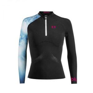 Ultralight Breathing Black and Sea Long Sleeve Lady Shirt - wm00033 sea 1 lp 500x500