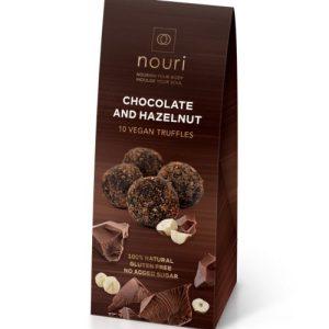 Vegan Chocolate & Hazelnuts (box of 10 truffles)