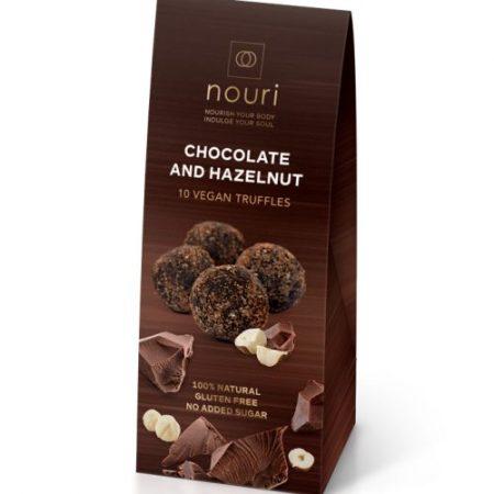 10 Chocolate & Hazlenut vegan truffles nouri