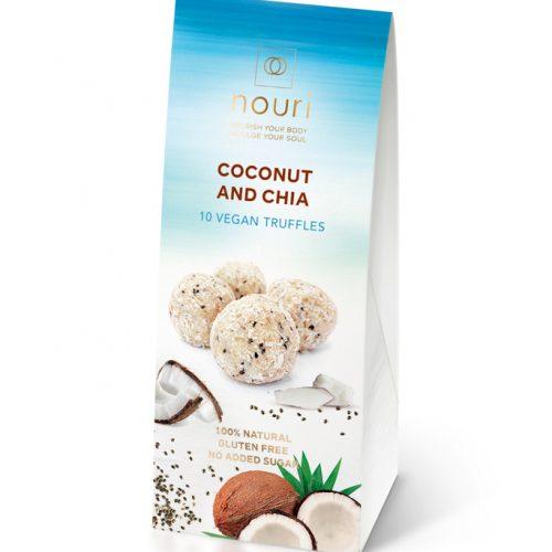 10 Coconut & Chia vegan truffles nouri