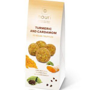 10 Turmeric & Cardamom vegan truffles nouri