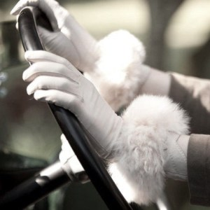 Oyster Alpaca Fur Cuffs
