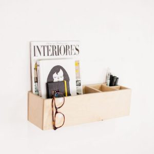 Wall and desk organizer and storage