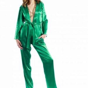 Silk Satin Suit – Green