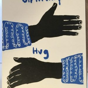 A6 Card x 6 Birthday Hug Blue