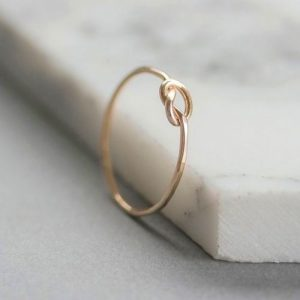 Forget Me Knot Gold Fill Ring