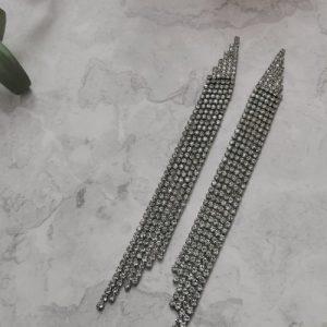 Silver Tone Art Deco Cubic Zirconia Drop Earrings - 750x1000 35 500x500