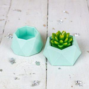 Jesmonite mini planter set, pastel green - 7ED454E3 2C39 4FC2 9DA5 24CAFDC7B060 500x500