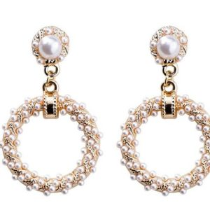 Gold Tone Vintage Mother of Pearl Earrings - 818x652 500x500