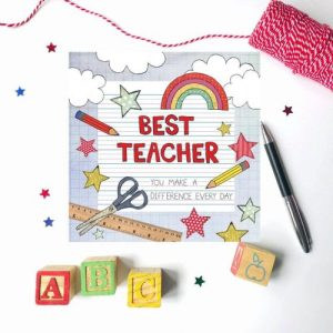 Flossy Teacake Best Teacher card - Best Teacher 500x500