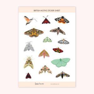 British Moths Stickers