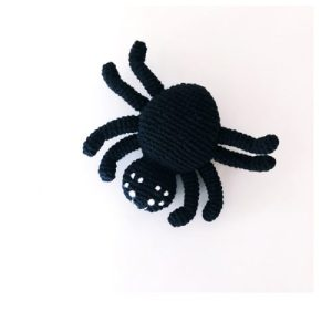 Bug rattle - spider - black - Bug rattle spider black 500x500