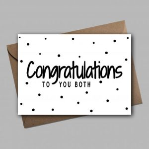 Congratulation To You Both Greeting Card