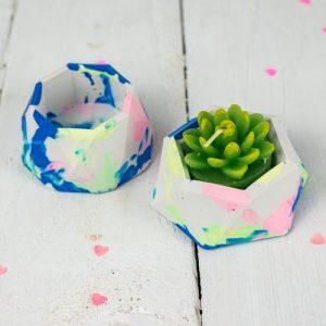 Jesmonite mini planter set, marbled tie-dye design - D61A9230 DA28 4F8C A16C 01CE5B038258 500x500