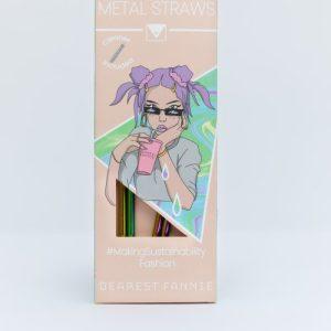 Iridescent Reusable Straw Set