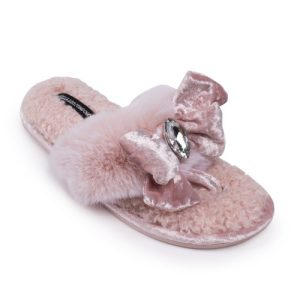 Diana Embellished Toe Post Slippers - Pack of 8 - DIANA PINK 500x500