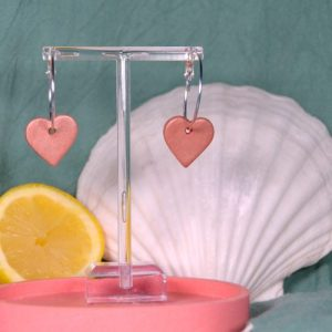 Heart Hoops, Rose Gold - DSC 1321 500x500