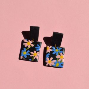 Forget Me Not Square Drop Dangles - DSC 1523 500x500