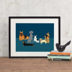 Doggy Friends Giclee Print - Dogs Print 500x500