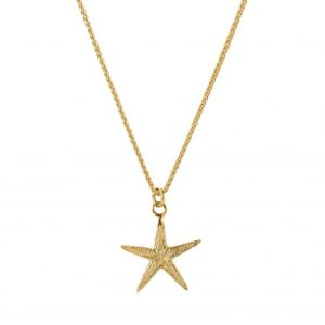 CLASSIC STARFISH CHARM NECKLACE 18ct Gold Vermeil