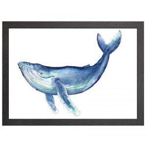 A2 FRAMED POSTER WHALE