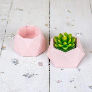 Jesmonite mini planter set, pastel pink - FC7D4623 6DD3 49C3 B7DF 6DF892A6C16D 500x500