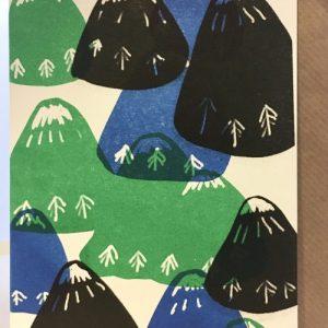 A6 Card x 6 Mountains 3