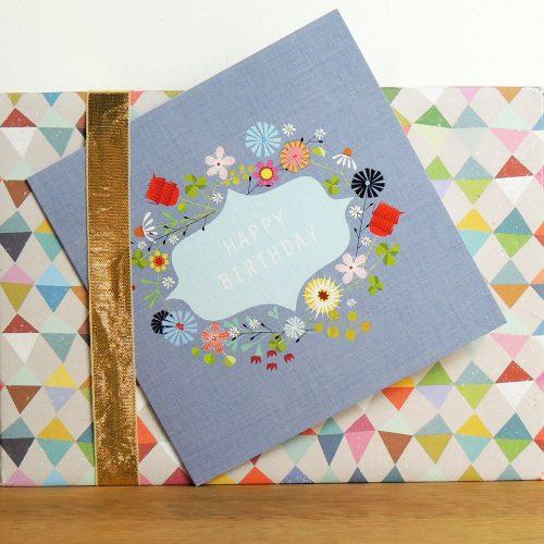 FL25 floral mauve birthday card