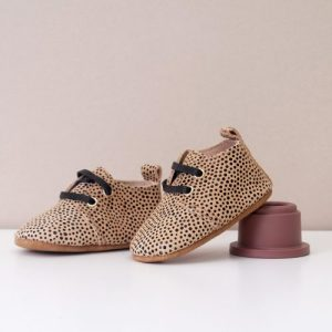 Hendrix Unisex Cream Spot Oxford Shoes