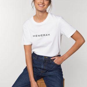 HEMERAH CLASSIC TSHIRT - White - Hemerah Sustainable Tshirt  White Studio Front Main 5 500x500