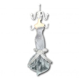 Grey & sparkly necklace and bracelet organiser (also available in pink)