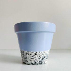 Splattered Bottom Planter - Light Blue - IMG 20210113 110634 01 1 500x500