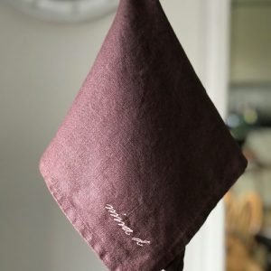 Linen Napkin Mauve pack of 6 - IMG 2851 500x500