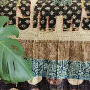 Rajputana Shahi Patchwork Kantha Quilt With Patchwork Border (Double)