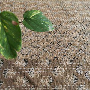 Aravalli Ajrakh Multi Patchwork Kantha Quilt (Double)