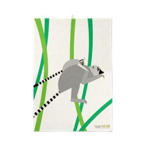 Leaping Lemurs Organic Cotton Tea Towel