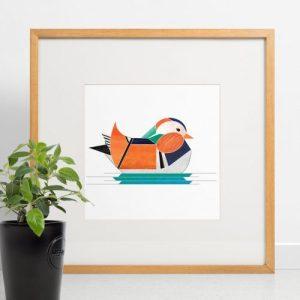 Mandarin Duck Giclee Print - Mandarin print 500x500