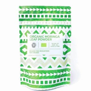 Organic Moringa Leaf Powder (100g) - Michero Yedu Moringa Display 500x500