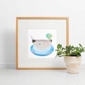 Mr Mallard Giclee Print - Mr Mallard print 500x500