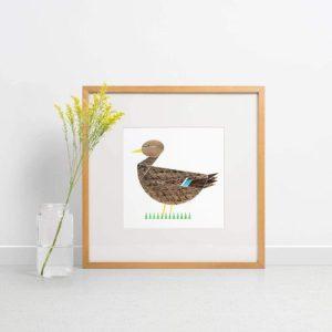 Mrs Mallard Giclee Print - Mrs Mallard print 500x500