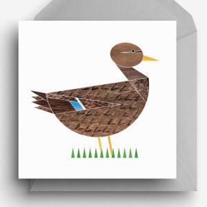 Mrs Mallard Greetings Card - MrsMallard card 500x500