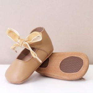 Nova Tan Tie Up Mary Jane Girls Shoes