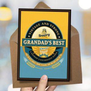 OTS345 Grandad's best card (x6 cards)