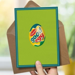 OTS185 Good egg easter card (x6 cards)