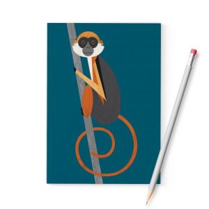 Red Colobus Monkey A6 Notebook - RedColobusMonkey A6 notebook 500x500