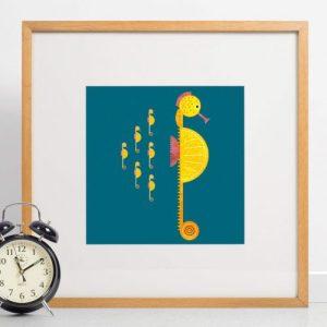 Seahorse Giclee Print - Seahorse print 500x500